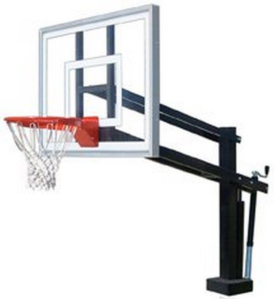 最初チームHydroShot IIIステンレスsteel-acrylic調整可能プールサイドバスケットボールsystem44、ブラック B01HC0EFBA