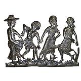 Haitian Metal Peasant Band Wall Hanging - Oil Drum Art