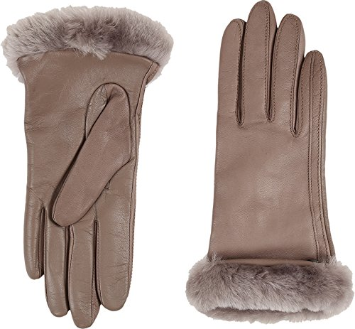UGG Women's Classic Leather Smart Glove Stormy Grey Two-Tone SM