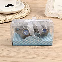 Blue Elephant Cartoon Ceramic Salt and Pepper Shakers 20 Set Wedding Favors Party Gifts for Guest Thank You Gift and Supplies with Boxes Bulk
