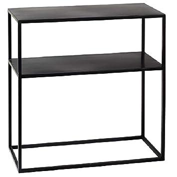 milanari Consola Zara Hierro Negro Ancho: 60 cm, Profundidad: 28 cm, Altura: 60 cm: Amazon.es: Juguetes y juegos