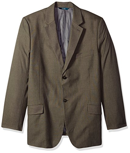 Perry Ellis Men's Big and Tall Regular Fit Pattern Twill Suit Jacket, Chinchilla, 46-Long by Perry Ellis