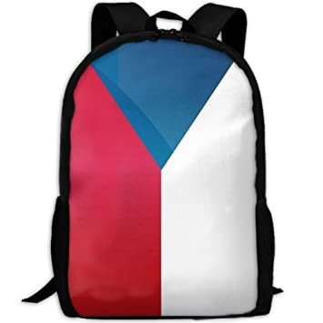 Bandera de la República Checa-República Full 3D Impresión Mochila Colegio Portatil Bolsa Mochila Mochila Mochila de Viaje para Unisex: Amazon.es: Hogar