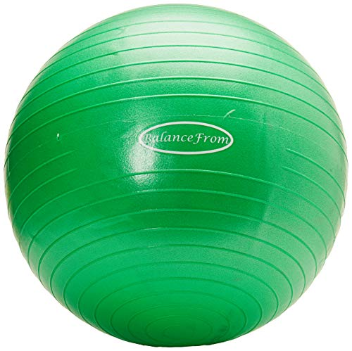 BalanceFrom Anti-Burst and Slip Resistant Exercise Ball Yoga Ball Fitness Ball Birthing Ball with Quick Pump, 2,000-Pound Capacity (38-45cm, S, Green)