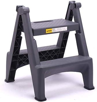 Taburete Plegable Escalera Plegable De 2 Pasos, Escalera Escalera Plegable Casera Lavado De Autos Escalera Profesional De Dos Pasos Pedal De Plástico Grueso Escalera De Interior (Color : Gray): Amazon.es: Bricolaje y