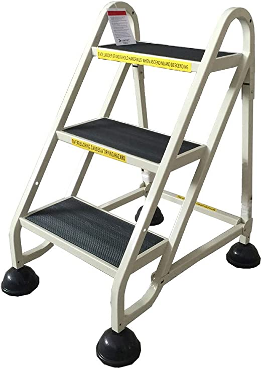 Nevy- Escalera de Aluminio Escalera Plegable Almacén de Escalera de Aluminio Escalera Ascendente Escalera para el hogar Telescópica, 3 Pasos: Amazon.es: Hogar