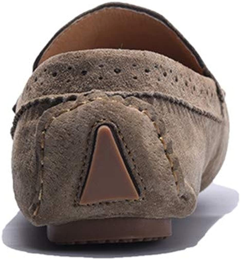 Gommino Driving Shoes Suede Moccasins Large Size 38-46 Men Leather Flats Loafers Khaki
