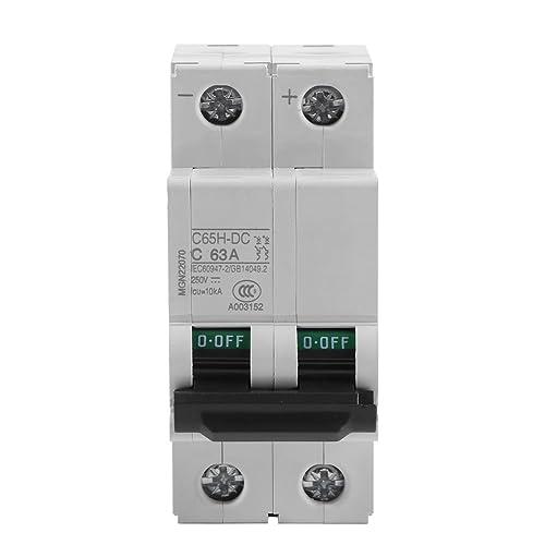 2P 250V Low-voltage DC Miniature Circuit Breaker For Solar Panels Grid System din rail