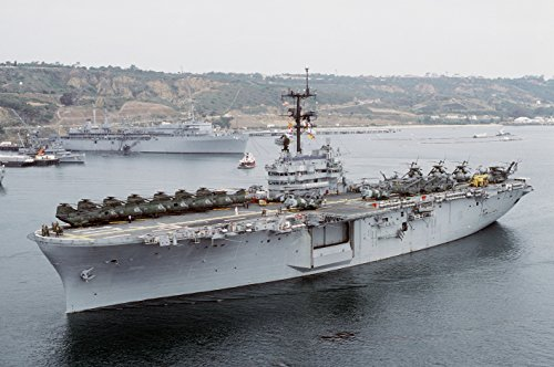 LAMINATED POSTER The U.S. Navy amphibious assault ship USS New Orleans (LPH-11) underway in San Diego Bay, California