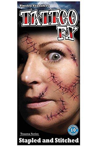 Loftus International Tinsley Tattoo FX Halloween Stapled and Stitched Transfers]()