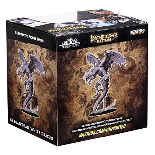 WizKids Pathfinder Deep Cuts Unpainted Miniatures: Gargantuan White Dragon by WizKids (Image #3)