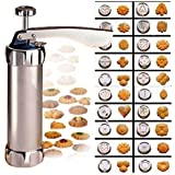 N.CHOICE Aluminum Biscuit Cookie Maker Pump Press Machine Cake Decor 20 Moulds 4 Nozzles