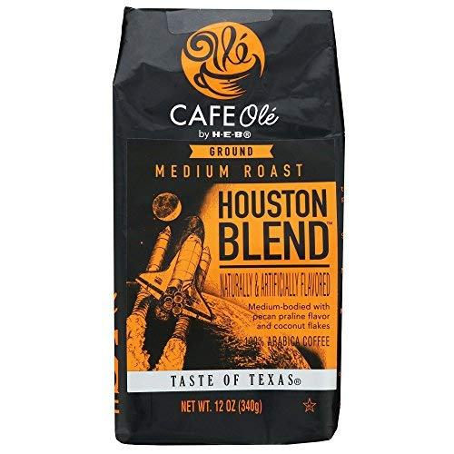 Houston Blend Medium Roast Ground Coffee (pecan praline and coconut) (3 Pack)
