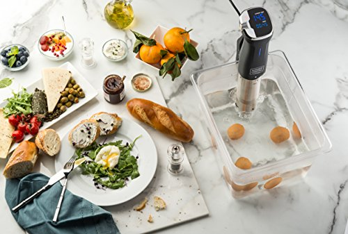 Kitchen Gizmo Sous Vide Immersion Circulator - Cook with Precision, 800 Watt Grey Circulator Stick with Touchscreen Control Panel and Safety Feature - Bonus Recipe Book Included by Kitchen Gizmo (Image #2)