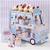Ice Cream Van Stand With 12 Paper Ice Cream Cones