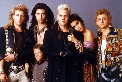 The Lost Boys 24X36 Color Movie Poster Kiefer Sutherland Jason Patric Alex Winter & cast pose from Silverscreen