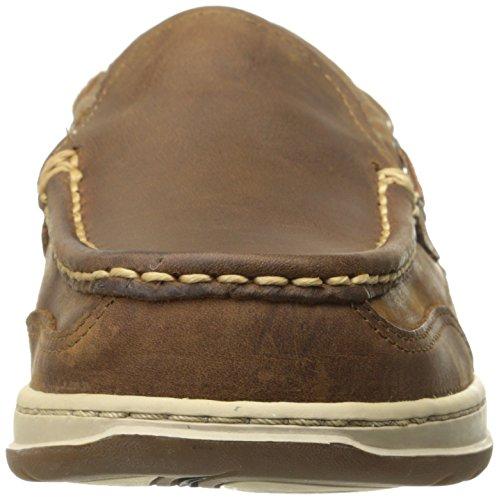 Sebago Mens Clovehitch Slip On Oxford, Walnut Leather, 8.5 M US