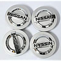 4pcs 54mm Silver Chrome Wheel Center Hub Caps for NISSAN Altima Maxima Murano 350Z Sentra