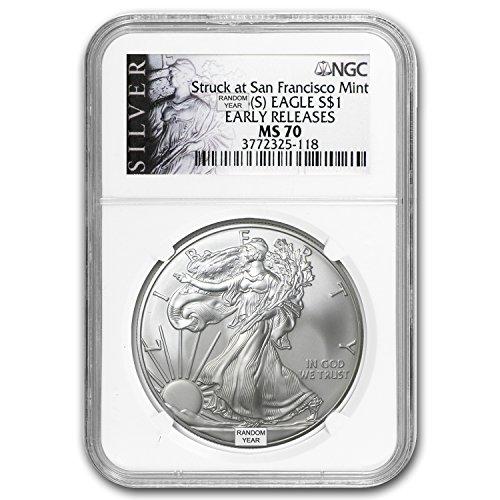 American silver eagle ms70 1986