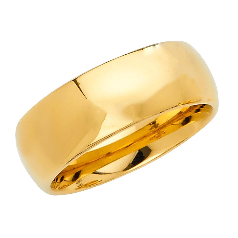 カスタム彫刻 – タングステンイエロー光沢仕上げ8 mm婚約結婚指輪バンド – ユニセックス B077WQRTCM