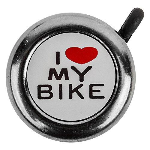 """Sunlite """"I Love My Bike"""" Bicycle Bell Chrome"""