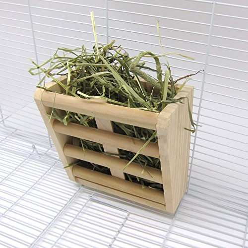Alfie Pet by Petoga Couture - Sean Wood Hay Manger Feeder for Mouse, Chinchilla, Rat, Gerbil and Dwarf Hamster by Alfie (Image #2)