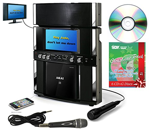 AKAI KS-800BT CDG Karaoke Machine with Christmas Pack & 2 Mics Bundle -  Ace Karaoke, HAKAPK0001