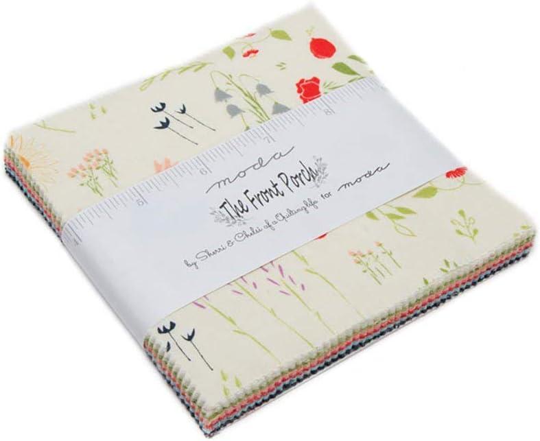 Moda nuevo porche Acolchado Patchwork-paquete de encanto de cuadrados de 10 pulgadas