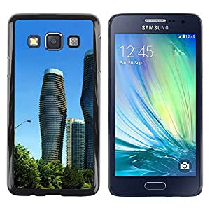 "For Samsung Galaxy A3 , S-type Arquitectura moderna City Towers"" - Arte & diseño plástico duro Fundas Cover Cubre Hard Case Cover"