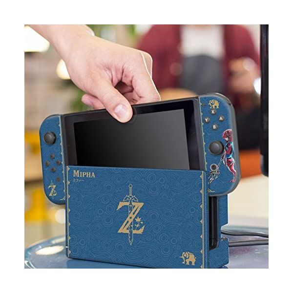 "Controller Gear Nintendo Switch Skin & Skin Protector Set Officially Licensed By Nintendo - The Legend of Zelda: Breath of the Wild: ""Mipha Tribal"" - Nintendo Switch 6"