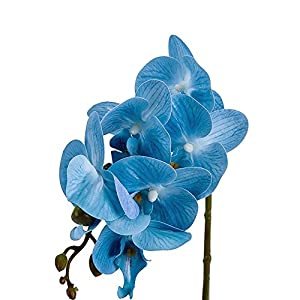 BeautiLife Blooming Orchid Artificial Flower Arrangements Blooming Flower Bonsai Rockery Series in vase for Home Wedding Party Office Dcoration 4