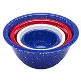 zak mixing bowl set - Zak Designs Confetti 4-piece Plastic Mixing Bowl Set, Red, White & Blue