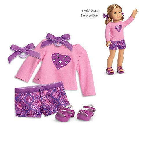 American Girl Truly Me Sparkling Hearts Outfit in Bag for 18