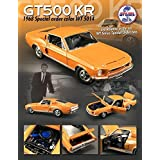 1968 Ford Shelby Mustang GT 500 KR Brilliant Orange WT 5014 Release #3 1/18 by Acme A1801807 by ACME