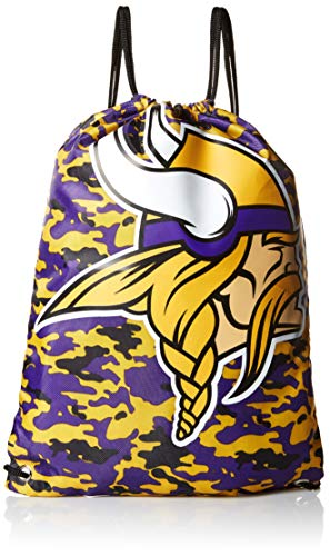 Minnesota Vikings Drawstring Backpack - Camouflage