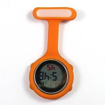 su Mujeres Relojes De Enfermera Digital, Luces De Noche Relojes Unisex Multifunción Siliconas Enfermeras/