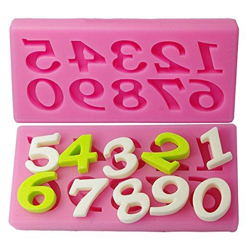 JD Million shop 10 Numbers Pattern Birthday Cake Fondant Decorating Tools Molde De Silicone Kitchen Cake Number Decorating Baking Tool GF054