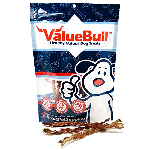 ValueBull USA Lamb Pizzle Twist Dog Chews, 6 Inch, 25 Count from ValueBull USA