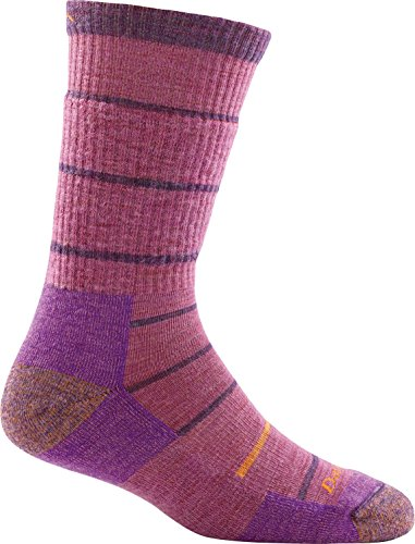 Darn Tough Summit Stripe Cushion Boot Sock - Women's Violet Medium