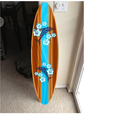 5' wall hanging surf board surfboard decor hawaiian beach surfing beach - Decor Painted Surf Hand