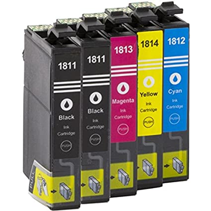 5 x Cartuchos para Epson Expression Home XP de de 102/XP 202 ...