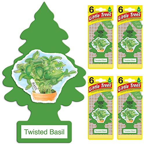 (Little Trees U6P-60297-CHPA Automotive Air Fresheners Twisted Basil)