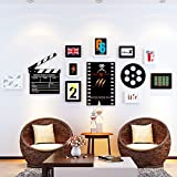 Photo Wall, Simple Modern Living Room Photo Wall, Picture Frame Wall, Creative Personality Frame Wall Combination, Bedroom Frame Photo Wall ( Color : 2# )