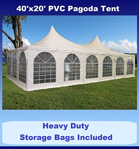 40'x20' PVC Pagoda Tent - Heavy Duty Party Wedding Canopy Gazebo - with Storage Bags - By DELTA Canopies