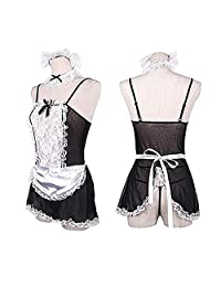 Loveliness Women Sexy Plus Size Maid Lingerie French Maid Costume
