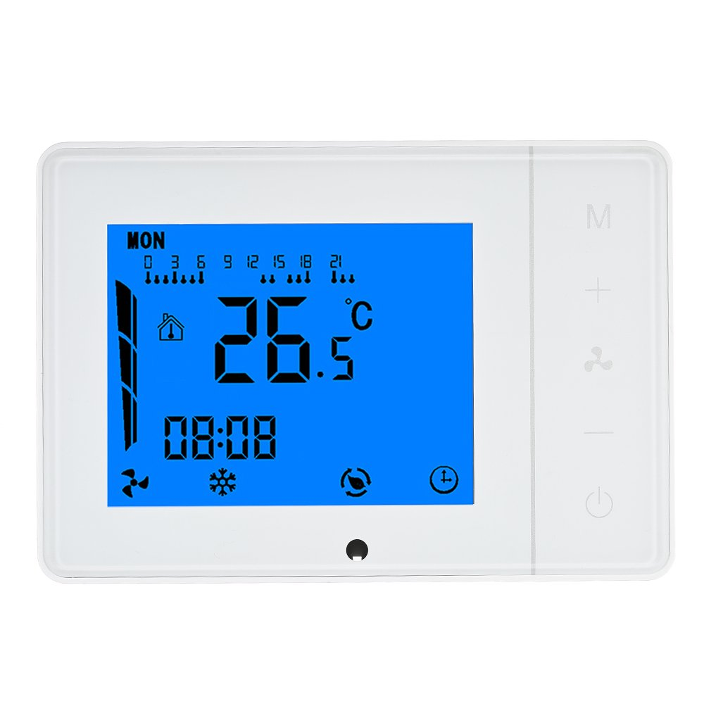 Anself 110~230V Air Conditioner 2-pipe 4-pipe Thermostat with LCD Display Touch Screen Programmable Home Improvement Product