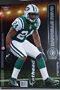 Darrelle Revis New York Jets FATHEAD Official NFL Vinyl Wall Graphic 16 INCH