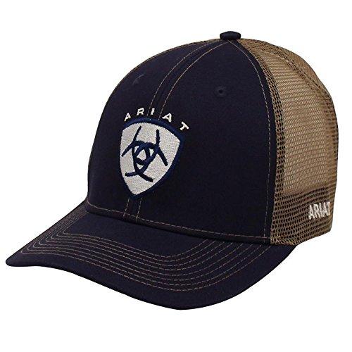 Ariat Hat (Ariat Men's Center Logo, Navy, One Size)