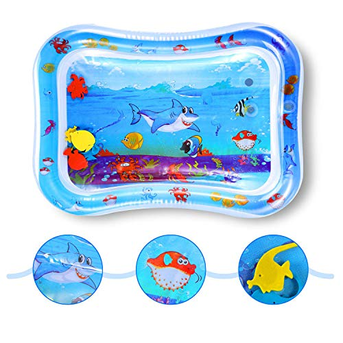 SKL Baby Water Play Mat Inflatable Baby Water Mat Toys for 3 Month Plus Toddler's Tummy Time Sensory Water Mat Newborn Development Mat Toys for Baby Water Activity Mat & Stimulation Growt (Plus Mat)