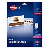 """Avery Business Cards, Uncoated, 2"""" x 3-1/2"""", 250 Cards (5371)"""